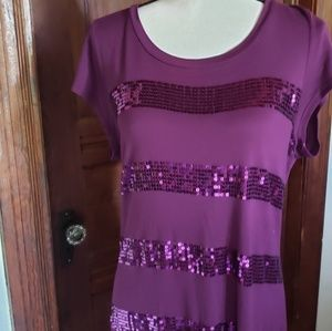 EUC Apt 9 purple 💎 sequined 💎 top